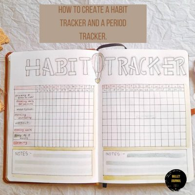 How to create a Habit Tracker in Bullet journal and a Period Tracker.