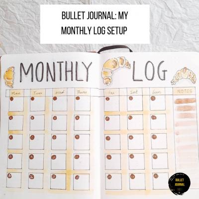My Monthly Log Bullet Journal Setup