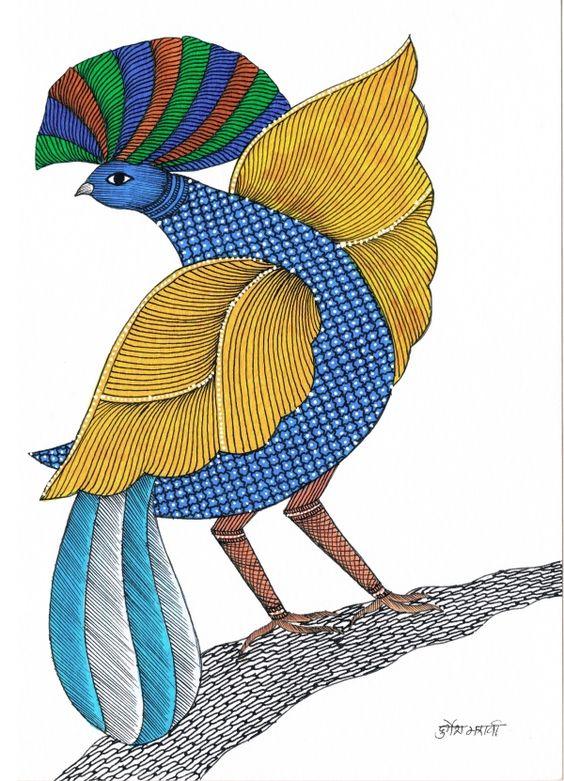 Gond-Art-Bird