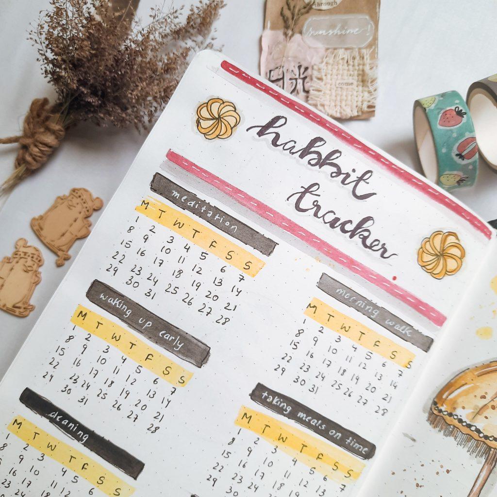 habit-tracker-bullet-journal-india
