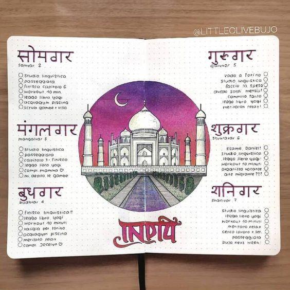 India-Spread-Bullet-Journal