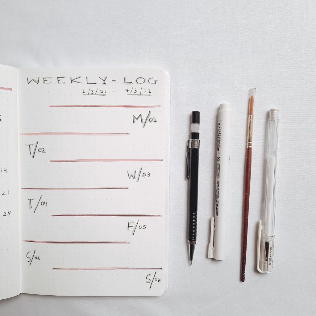 minimalist-weekly-log