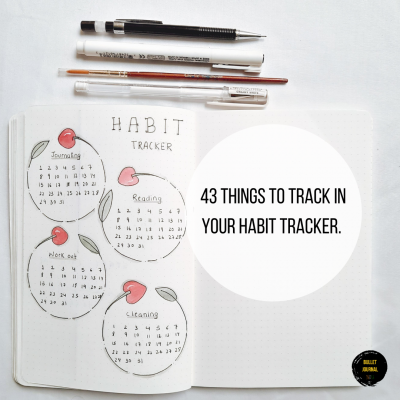 43 Things To Track in Your Habit Tracker.