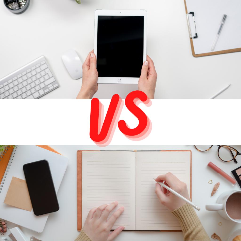 paper vs technology bullet journal india