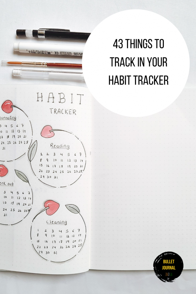 43 Things To Track In Your Habit Tracker